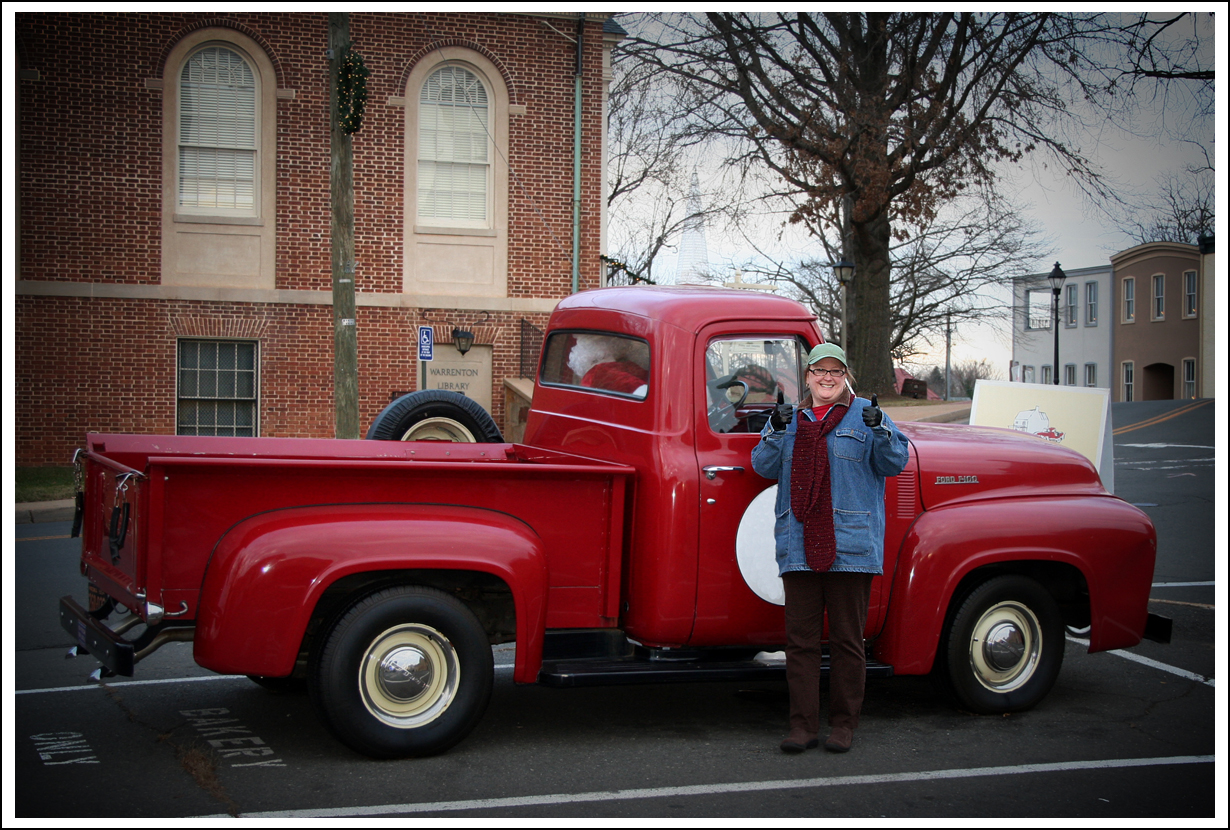 Carol LOVES old, red trucks.