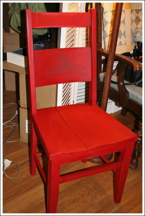 LOVE this red chair!