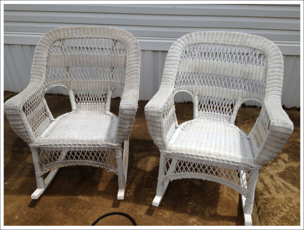 White Chairs, Before & After