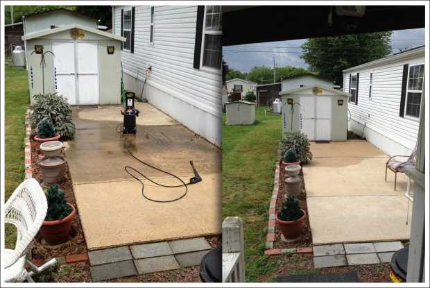 Patio, During & After