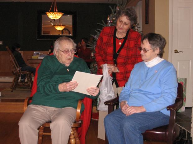 Grandma, Aunt Kathy, and Mom