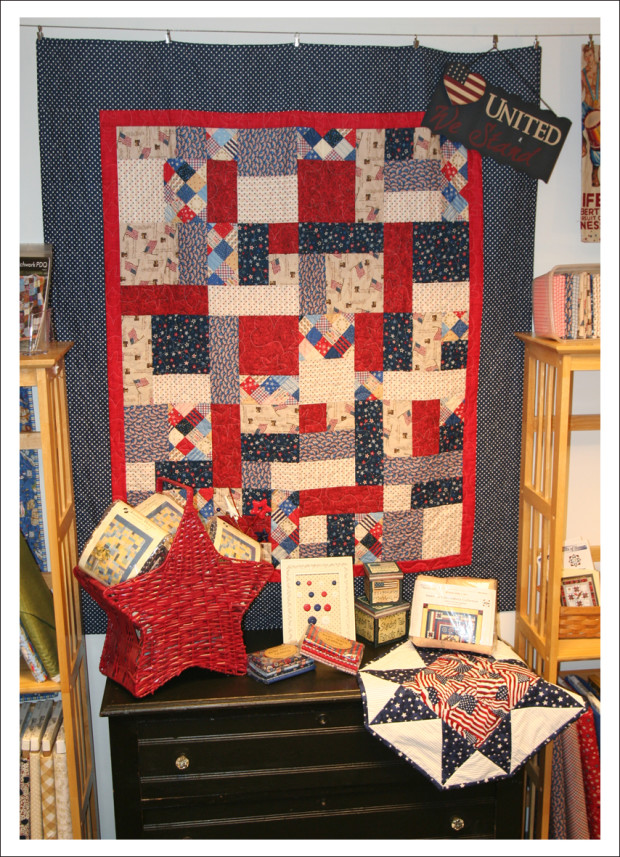 Patriotic quilt at Kelly Ann's Quilting.