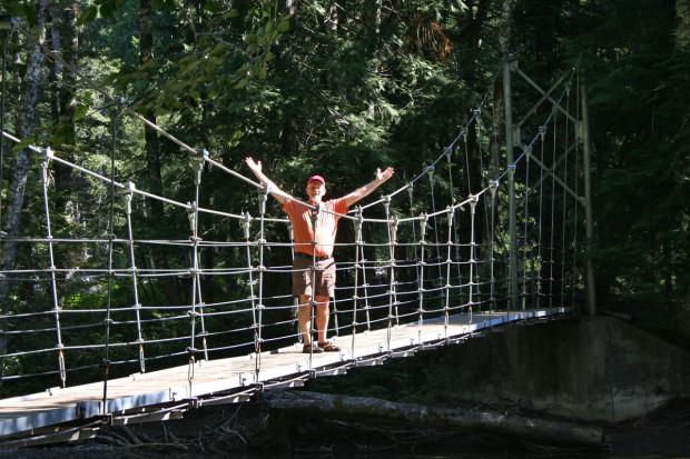 Mike on the Suspension Bridge