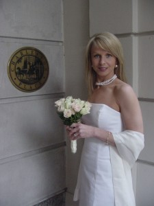 Just before her wedding in 2003.