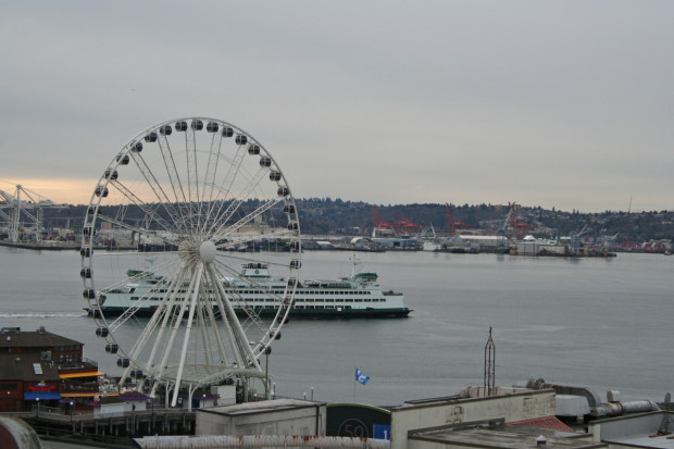 From the restaurant... a Washington State Ferry
