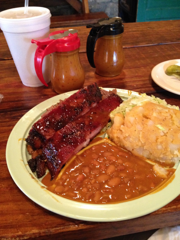 The Salt Lick Lunch (Ribs and Brisket)