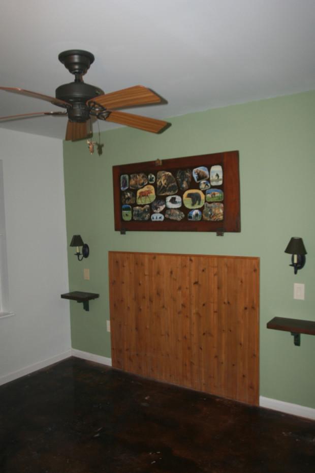 Bedroom wall restored.