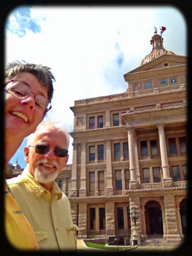 Me and Mike at the Texas State Capitol building.