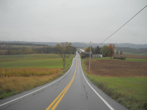 Nice country road in Pennsylvania.