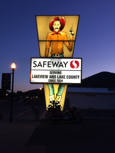Safeway sign in Lakeview, Oregon