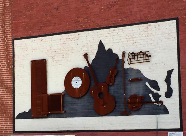 LOVEwork in downtown Bristol, Virginia