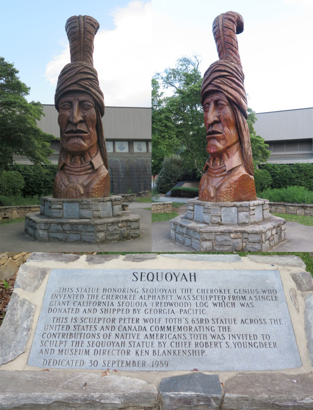 Sequoyah, one of Peter Toth's Whispering Giants