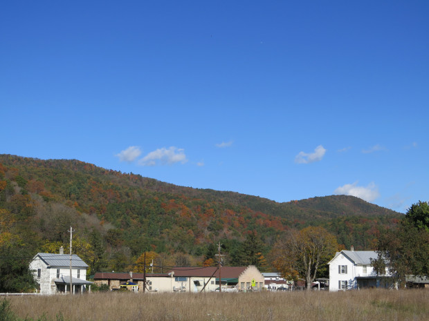 Looking at the mountains in Brandywine, West Virginia.