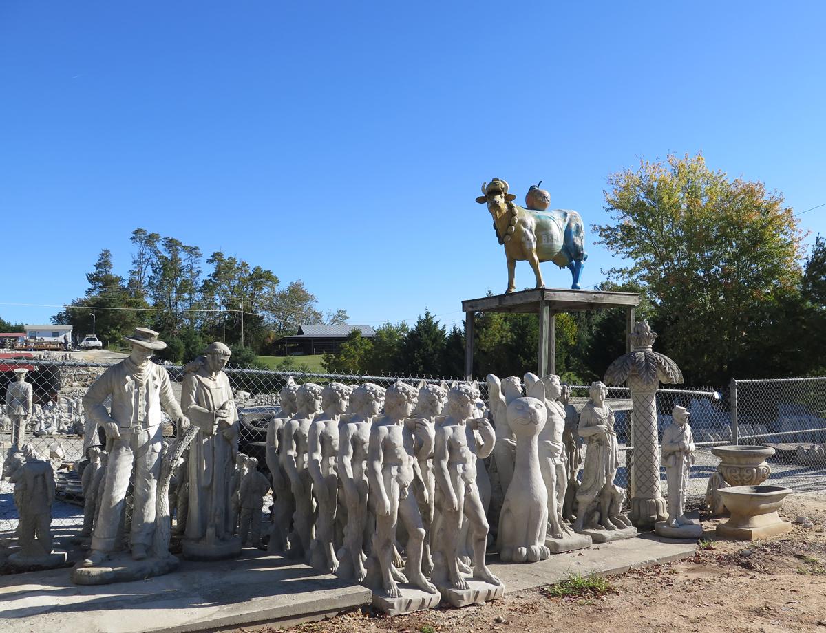 Slick S Hillside Of Concrete Statues Toadmama Com