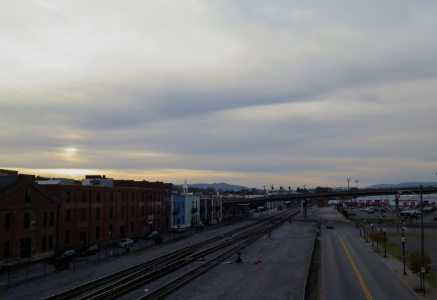 Looking west from Roanoke, just before sunset.