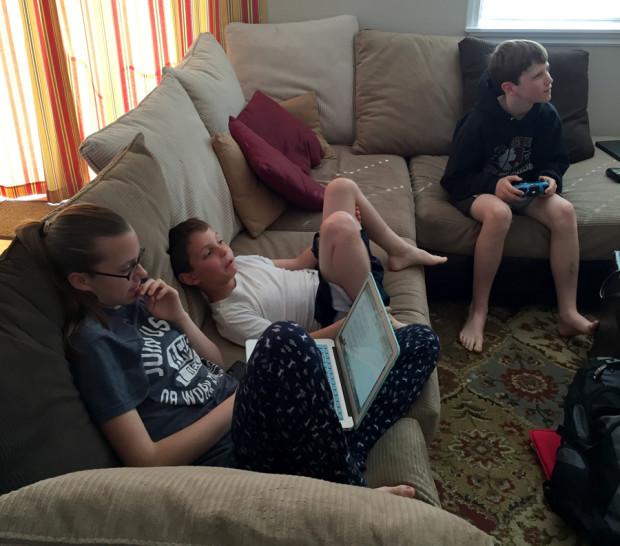 The Grand Kids - Brianna (15), Joe (8), and Gaige (12)