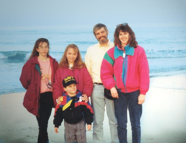 Family trip to VA Beach, about 1994.