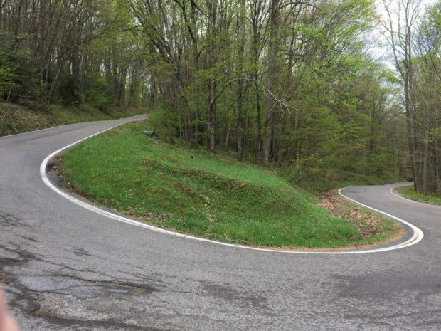 The road to and from High Knob Lookout Tower (Stone Mountain)