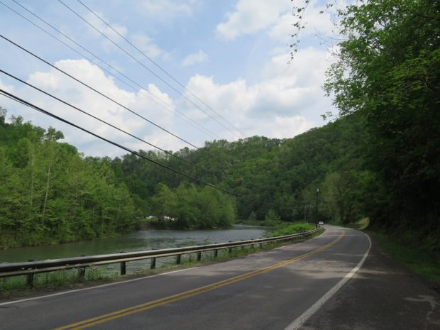 Near Gilbert, WV, along the Guyandotte River.